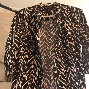 Black and white blazer style jacket
